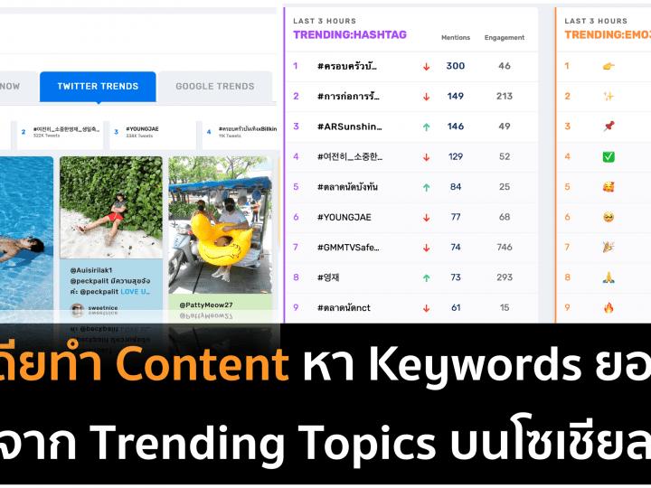 หาไอเดียเขียน Content ด้วย Trending Topics จาก Mandala