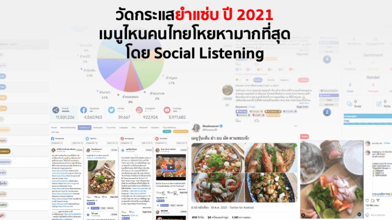 วัดกระแสยำแซ่บ ปี 2021 เมนูไหนคนไทยโหยหามากที่สุด โดย Social Listening